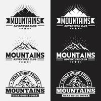 bergen logo's en badges vector sjablonen ontwerpset