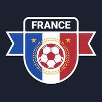 Frans voetbal of voetbal badge embleemontwerp