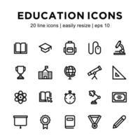 onderwijs pictogrammalplaatje vector