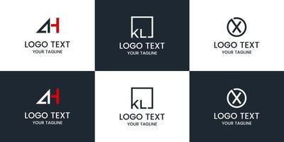 monogram ingesteld logo ontwerp vector