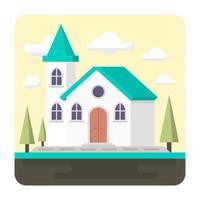 Platte kerk vector