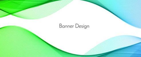 abstracte groene moderne decoratieve golf ontwerp banner achtergrond vector