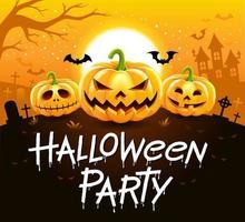 halloween-feest vectorillustratie. vector