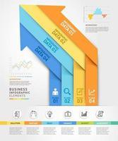 zakelijke infographics ontwerpsjabloon. vector illustratie. kan worden gebruikt voor werkstroomlay-out, diagram, nummeropties, opstartopties, webdesign.