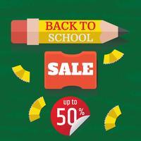 Terug naar school verkoop illustratie