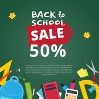 Terug naar school verkoop vector achtergrond