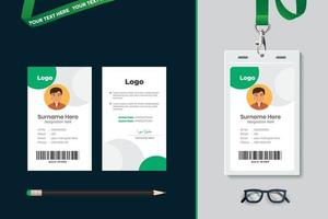 eenvoudig identiteitskaart-sjabloonontwerp