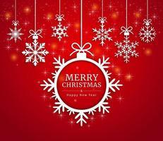 prettige kerstdagen en gelukkig nieuwjaarskaart papier knippen stijl. vector illustraties.