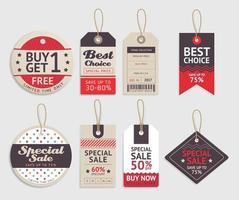 prijskaartjes label ontwerpset. vector illustratie.