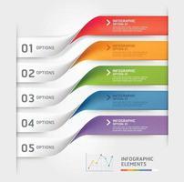 zakelijke infographic elementen sjabloon. vector illustraties. kan worden gebruikt voor werkstroomlay-out, banner, diagram, nummeropties, webdesign, tijdlijnsjabloon.