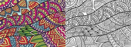doodle decoratieve kleurboekpagina voor volwassenen en kinderen. vector
