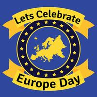 Europa dag vector achtergrond