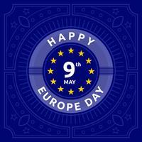 gelukkig Europa dag vector
