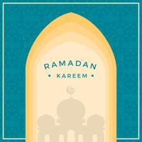 Platte ramadan vectorillustratie