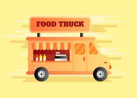 Voedsel vrachtwagen vectorillustratie vector