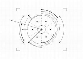 moderne technische achtergrond. doelschermelementen. overzicht hud-gebruikersinterface voor bedrijven. vector illustratie