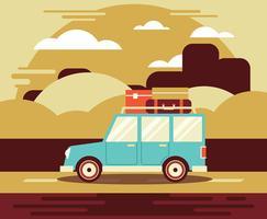 Road Trip Illustratie vector