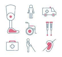 handicap pictogramserie vector
