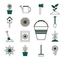 tuinieren pictogramserie