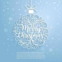 vrolijk kerstpapier gesneden kunst. vector en illustratie.