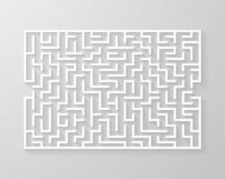 labyrint doolhof symbool vorm vectorillustratie.
