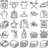 wasservice pictogrammen. vector illustraties.
