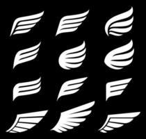 vleugels pictogrammen logo vectorillustraties.