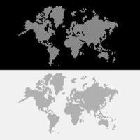 wereldkaart stippen stijl. vector illustratie.