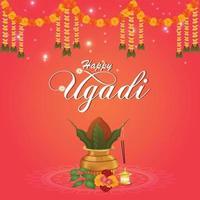 gelukkige ugadi-vieringsachtergrond