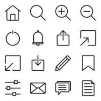 web gebruikersinterface icon set vector