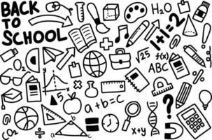 terug naar school doodle pictogram vector