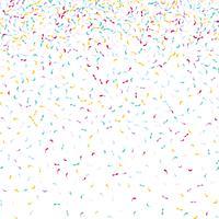 Confetti achtergrond vector