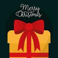 vrolijk kerstfeest met boog vector ontwerp