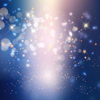 Abstracte lichten en sterrenachtergrond vector