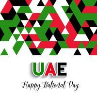 Geometrische ontwerpachtergrond voor Verenigde Arabische Nationaal van Emiraten