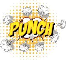 komische tekstballon met punch-tekst