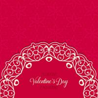Decoratieve Valentijnsdag achtergrond vector