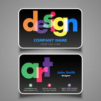Artiesten visitekaartje vector
