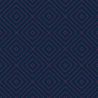 vector naadloze geometrische patroon met rode lineaire rechthoek raster textuur op marineblauwe achtergrond