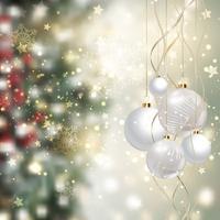 Kerst achtergrond met snuisterijen vector