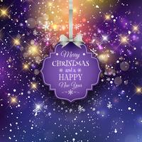 Kerstmis label achtergrond vector