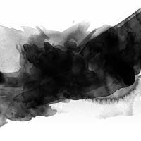 Zwarte aquarel vlek vector