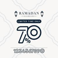 ramadan verkoop korting tot 70 beperkte tijd alleen vector sjabloonontwerp illustratie