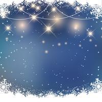 Kerst sneeuw achtergrond vector