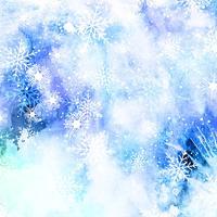 Aquarel sneeuwvlok achtergrond vector