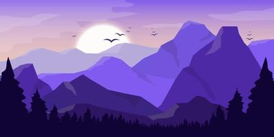 berg prachtige landschap achtergrond vector ontwerp illustratie