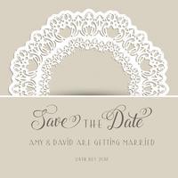Decoratief bewaar de datumuitnodiging vector