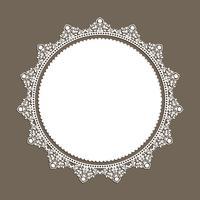 Decoratieve kantstijlrand vector