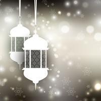 Ramadan lantaarn achtergrond vector