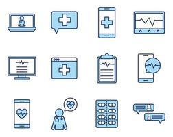 online gezondheid pictogramserie